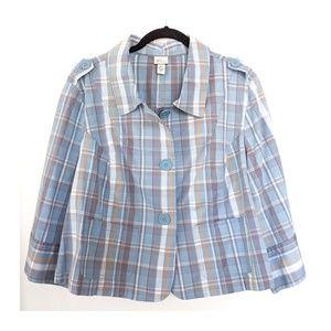LANE BRYANT Plaid Jacket Size 18/20 NWOT